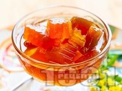 Рачел от тиква с гасена вар и глюкоза (зимнина в бурканчета) - снимка на рецептата